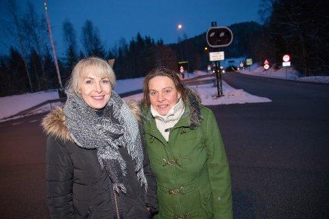 MULIGHETER: Unni Sorter (t.v.) og Inger Johanne Wøien mener tiden er inne for å få til en bussforbindelse mellom Hurum og Frogn.