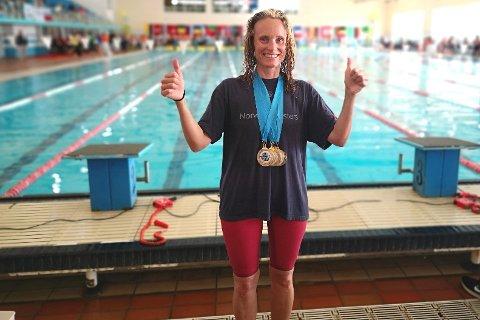 NESTEN FULL POTT: 6 gull av 5 mulige i Det olympiske bassenget i Rades.