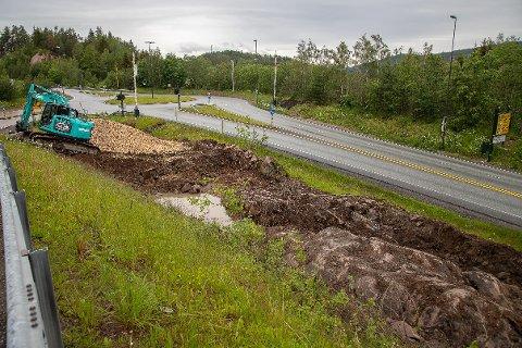 INNSATSOMRÅDE: Nødetatene har i dag for lite plass når det oppstår situasjoner i Oslofjordtunnelen, men nå lager Statens vegvesen et eget område for dem like ved tunnelåpningen.