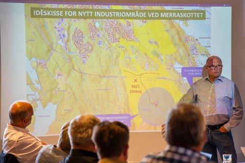 FORSLAG: Eystein Kallhovde sier planene til Orica er på idéstadiet, men håper det blir debatt blant politikere og innbyggere i Hurum.
