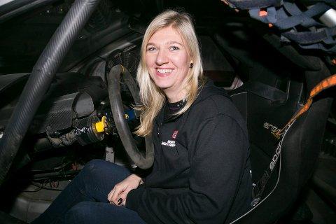 FIESTA:  Liz Wessel er godt i gang med sin første hele sesong som rallycross-fører. Søndag står Momarken for tur.