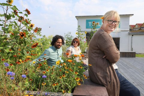 MANGFOLDIG: Jon Esteban Furøy, Elin Sandsether og Linda Solheim i Røyken bibliotekene frister med en variert bibliotekhøst.
