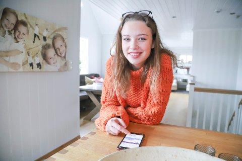 """KUTTE: Sandra Finsdal Skaug (17) har meldt seg på kampanjen """"bli en klimahelt"""" og har satt seg som mål å spise mindre kjøtt, dusje kortere og velge bort bil når hun kan. - Jeg skal også resirkulere mer, sier hun, og tror ikke det skal bli alt for vanskelig."""