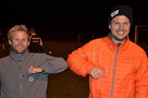 SJEFER: Trenerne for A-laget i Gråbein IL er: Bjørn Tore Gregertsen (tv) og Christoffer Foss.