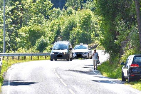ENGLEVAKT: Margaret Bliksmark forteller at hun hadde englevakt sist uke da en lastebilen braste inn i fjellveggen på Storsandveien.