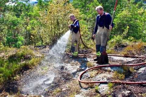 ADVARER: - Ikke tenn bål i skog og mark nå er den sterke oppfordringen fra brannvesenet i Asker og Bærum ABBR.