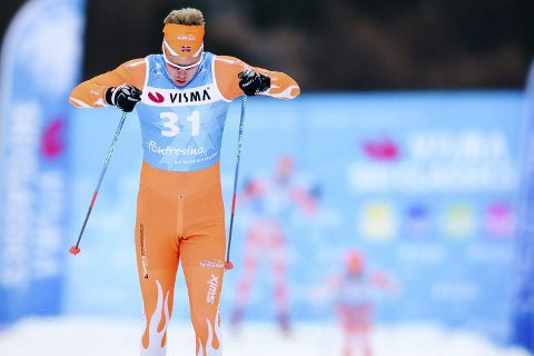 I GANG: Mats Breda innledet langløpssesongen i Sveits for noen dager siden. På nyåret kommer de store klassikerne tett for Sande-gutten. Foto: Svein Halvor Moe