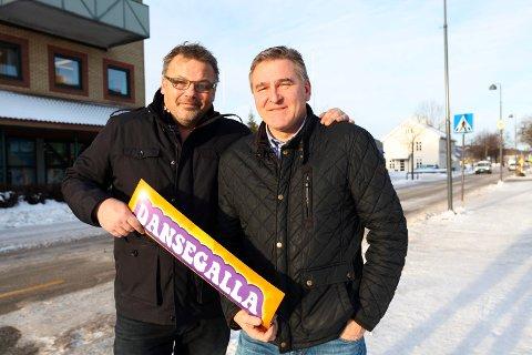 Trond Heieren (til venstre) og Jan-Otto Winnæss skal sammen med Tommy Svendsrud arrangere dansegalla i Drammenshallen.
