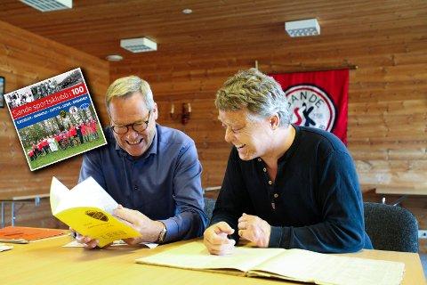 Lars Aaserud og Sven-Ove Johansen har skrevet Sande SKs historie.