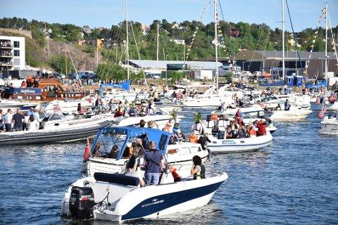 PYNT BÅTEN DIN: 17. Mai blir det båtkortesje fra Nordre Jarlsberg Brygge. Oppmøte klokken 12.50.