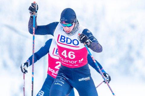 I FARTA: Eivind Kjennerud under 15 km fri for herrer under norgescupen på Lygna lørdag