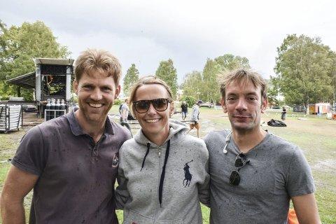 Dagen derpå: Strømsjef Bent Aker Iversen, Hanne Børresen Johansen og produksjonsansvarlig Stefan Dombek.