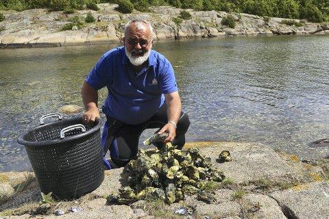 KARTLEGGING: Torjan Bodvin, seniorkonsulent i Havforskningsinstituttet, skal snart gå i gang med å kartlegge utbredelsen i Vestfold. Foto: Havforskningsinstituttet