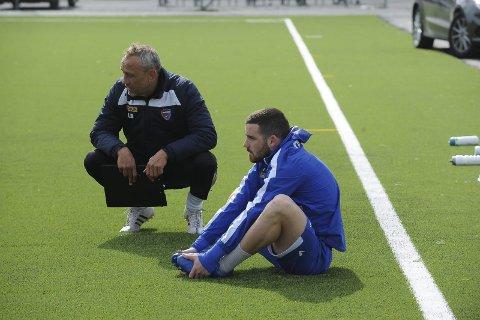 Klar for kamp: Pau Vicente Morer, her med Lars Bohinen, er klar for cupkamp mot Kjelsås. Foto: Øystein Styrvold