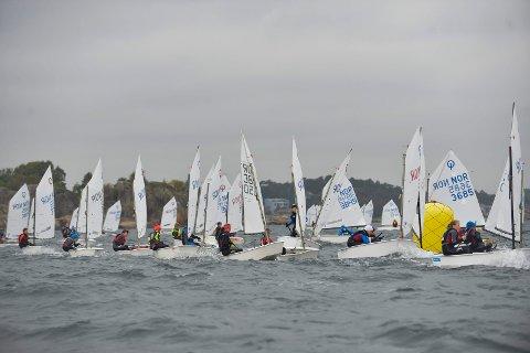 Sandefjord Seilforening arrangerte i helgen Norgescup for Optimistjolle.
