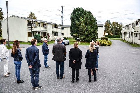 OMSORGSBOLIGER: I Diskosveien skal tre rekkehus med omsorgsboliger rives og erstattes med nye.