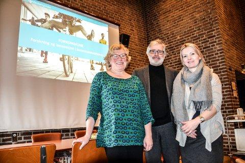 FORSKNINGSRÅDET: Regionansvarlig i Forskningsrådet, Trine Steen, rådgiver i Vestfold fylkeskommune, Stein Erik Fjeldstad, og lege og forsker Maria Krogseth.
