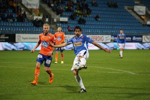 AVGJORDE IGJEN: Carlos Grossmüller scoret det første målet da SF slo Aalesund i forrige serierunde.
