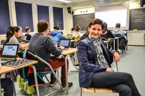 MØTER KONKURRANSEN: – Vi vil ha konkurranse, men vil også møte konkurransen i de kommunale skolene, sier Anne Strømøy (H), leder i hovedutvalg for oppvekst og kunnskap i Sandefjord kommune.