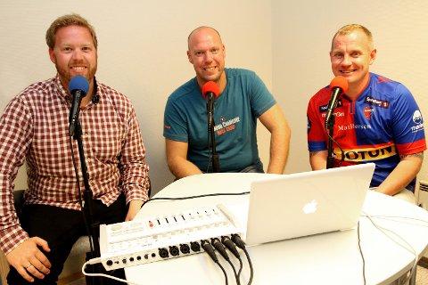 SF-PODDEN: Jørn W. Horntvedt, Leif-Tore Markman og Ken Skalleberg lager podkast om Sandefjord Fotball.