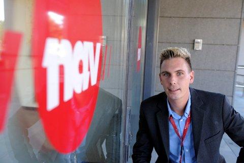 GODE TALL: Henning Fjell Johansen, NAV-leder i Sandefjord, gleder seg over arbeidsledigheten i Sandefjord går ned. Bildet er fra 2013.
