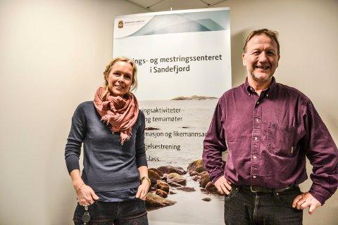 KURSLEDERE: Kreftsykepleier Silje Wergeland Kvestad og veileder Vincent Hagerup.