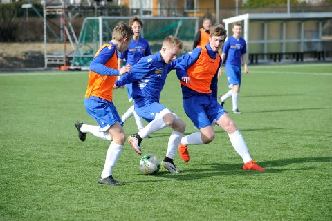 Sandefjord Fotball G16, trening på Gamle Stadion