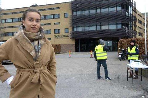 POLITISK SAK: Alexandria Marie Elboe Gogstad mener streiken blir brukt som et angrep på skolen.
