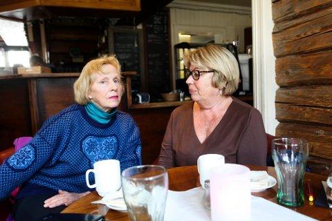 Elin Tveter og Evy Øverby ble bedt om å forlate restauranten Luigis spiseri.