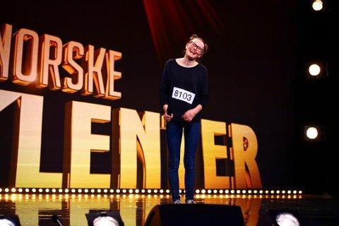 RØRT MANGE: Vilde Winge (13) fra Sandefjord har fått mange gode tilbakemeldinger etter at hun meldte seg på Norske talenter.