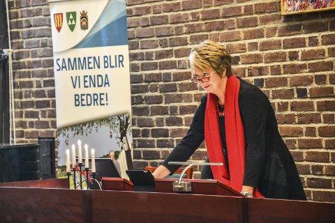 Rådmann: Gudrun Haabeth var først prosjektleder for kommunesammenslåingen, før hun ble rådmann. Hun kom fra stillingen som rådmann i Halden. Foto: Paal Nygaard