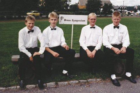 Det første styret i SBS. Fra venstre: Ole Christian Mørk, Knut Aker-Iversen, Petter Hole og Roger Næss.