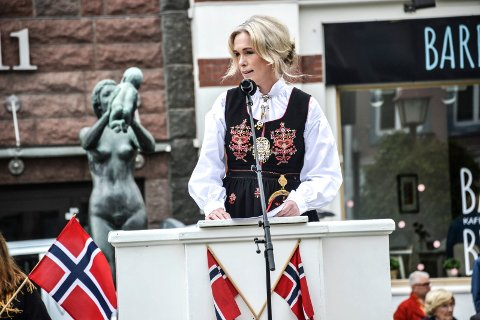 BYPARKEN: Anita Krohn Traaseth holdt hovedtalen for dagen.