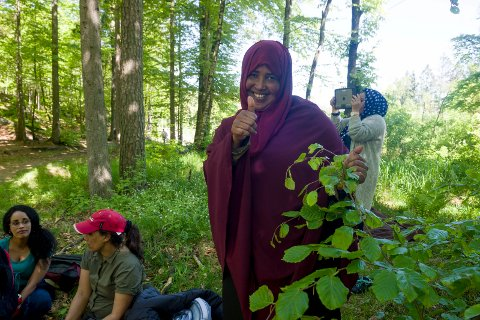 SKOGSTUR: Fowsia Kahiye Abokar var strålende fornøyd med egen innsats.