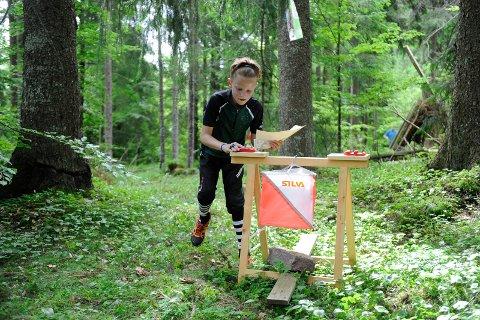 Postjakt: Magnus Sigurdsson fra Stokke holdt god fart i skogen og fant greit fram til postene.