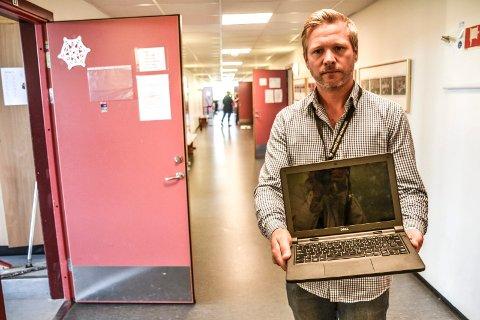 Stefan Lilleås er IKT-koordinator for oppvekst og kunnskap i Sandefjord kommune. De fleste av de 127 stjålne pc-ene var denne modellen, en Dell Latitude 3160.