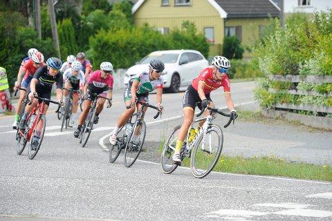 NM-KLAR: Thrude Natholmen (44), her i aksjon under fjorårets Sandefjord Grand Tour, gleder seg til å delta i sykkel-NM på hjemmebane. Hun skal i aksjon på tempoen torsdag 21. juni og på fellesstarten søndag 24. juni