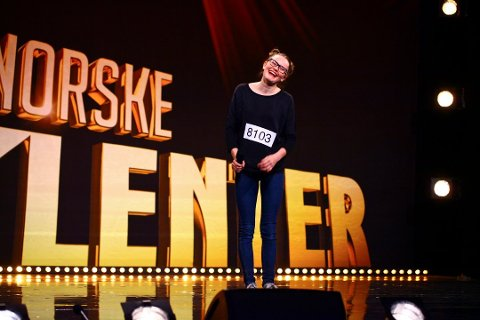 HELT TIL TOPPS: Vilde Winge (13) fra Sandefjord vant forrige sesong av Norske Talenter.