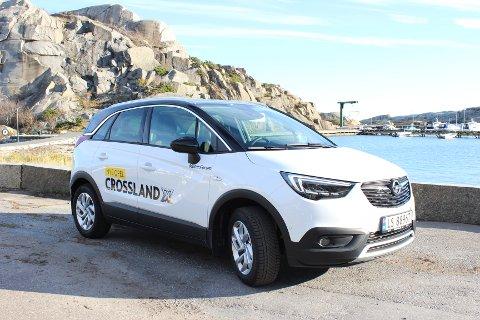 SMART: Det slanke SUV-designet og kompaktstørrelsen gjør nye Opel Crossland X til en sporty bybil.