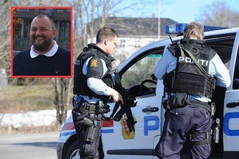 KRITISK: Jon Torp (innfelt) i Politiets Fellesforbund mener situasjonen i Sør-Øst politidistrikt er uholdbar.