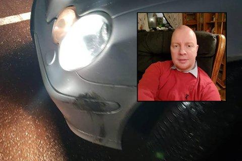 BULK: Frank Robert Samuelsen(innfelt) forteller at de hørte et smell da bilen traff høyresiden av bilen de satt i.