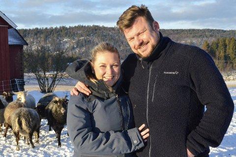 FORELDRE: «Jakten»-paret Erik Grytnes fra Høyjord og Maria Bjørndal venter barn sammen våren 2019.