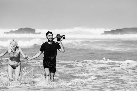 AVKJØLING: Fotograf Thor Elias Engelstad (42) strekker seg som vanlig langt for å få de bildene han vil ha.