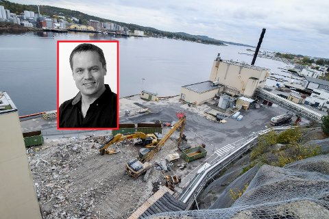 Jotun river den gamle fabrikken på Gimle. USAs exit fra Iran-avtalen får konsekvenser for selskapet, skriver ansvarlig redaktør Steinar Ulrichsen (innfelt).