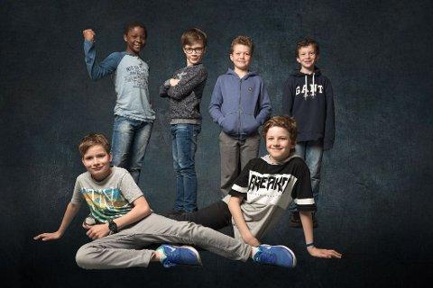Her er noen av elevene som skal delta.