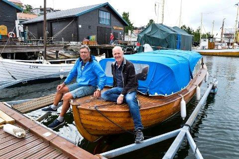 KYSTKULTUR: Gokstad kystlag skal  lørag 16. juni arrangere Kystkultur dagen. Leder Bjørn Navjord og Morten Hellemann fra styret. Gleder seg til å helgen.