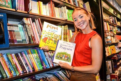ALLTID POPULÆRT: Astrid Lindgren og Alf Prøysen var viktig for Rikke Haughem (23) som barn. Nå formidler hun selv som profesjonell utøver de folkekjære forfatterne på Midtåsen.