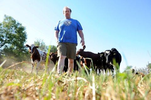 TAP: Melkebonde Andreas Botne er blant dem som har søkt om erstatning etter tørkesommeren. Han vet foreløpig ikke hvor mye han får i erstatning, men forventer ikke å få dekket mer enn halvparten av tapet.
