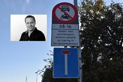 Hva skal til for å få folk til å respektere dette forbudsskiltet i Urianienborgveien? Spør ansvarlig redaktør Steinar Ulrichsen i denne lederen.