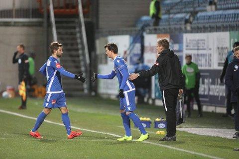 FIKK SPILLETID: Sander Risan ble sendt på banen da SF møtte Molde i fjor høst.